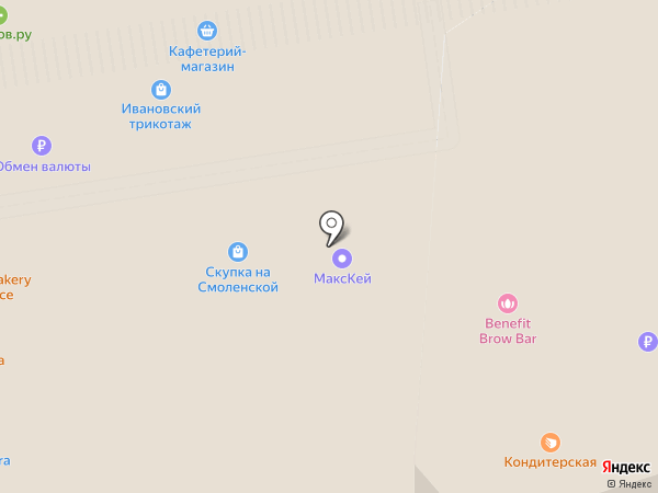 Спортмастер на карте Москвы