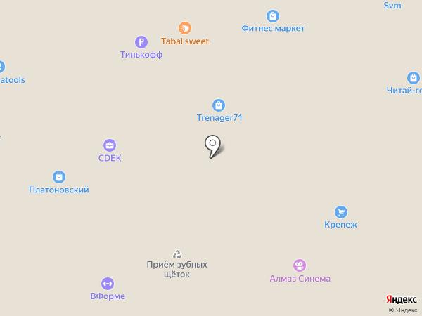 Детский мир на карте Тулы