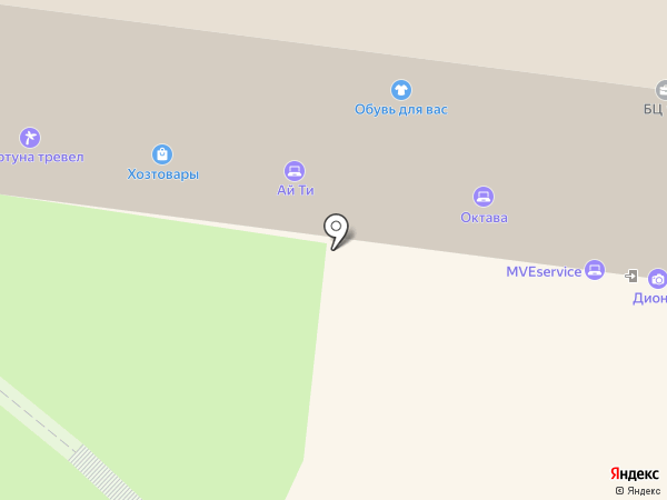 Магазин спортивной обуви и инвентаря на карте Тулы