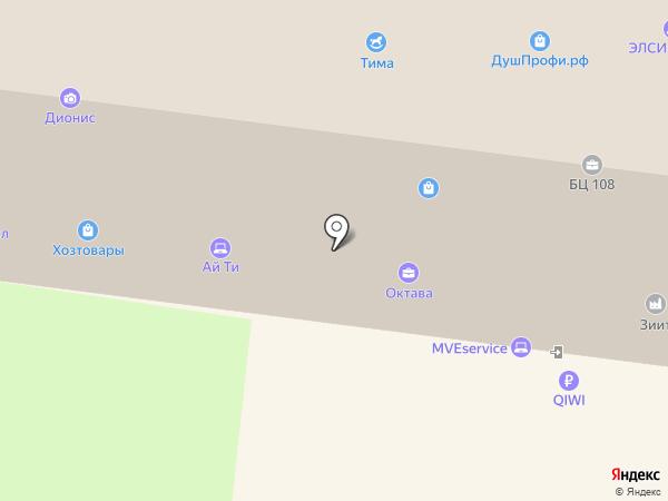 Ивитта на карте Тулы