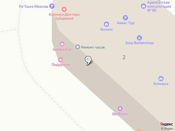 Натали Турс на карте Москвы