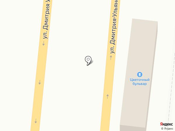 Цветочный бульвар на карте Тулы
