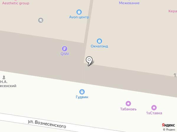 Табаковъ на карте Тулы