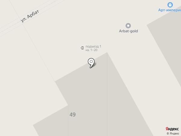 Галерея Камня на карте Москвы