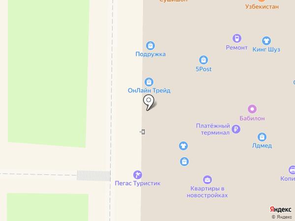 1xbet на карте Москвы