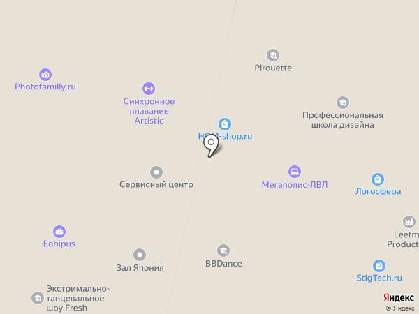 VVdance на карте Москвы