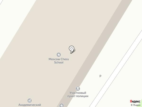 Академический на карте Москвы