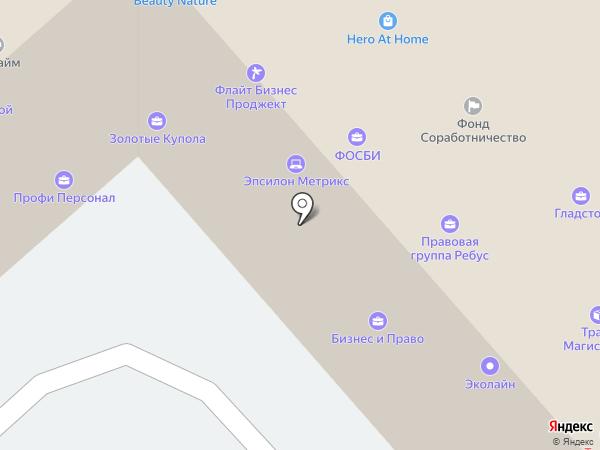 Капризница на карте Москвы