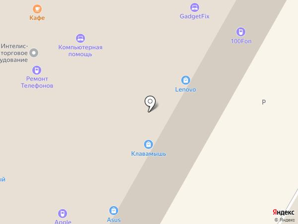 Клавамышь на карте Москвы