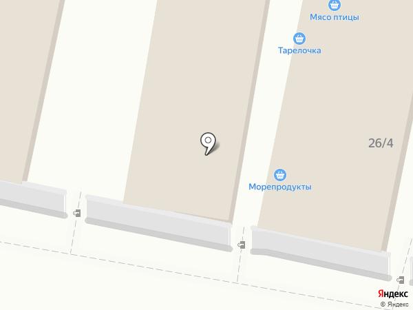 Магазин овощей и фруктов на карте Тулы