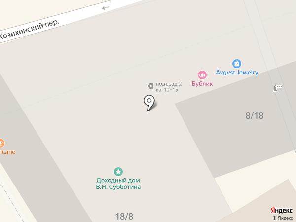 Рябчик на карте Москвы