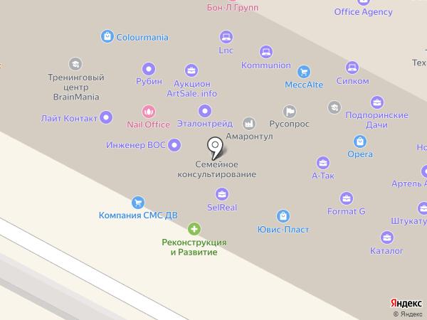 АЯ на карте Москвы