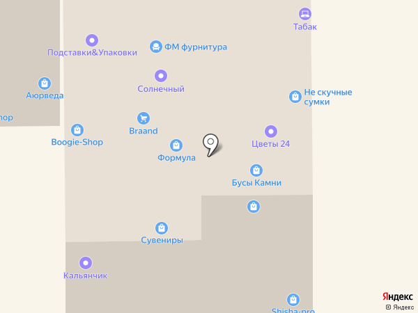 Магазин бижутерии на карте Москвы