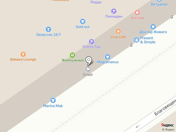 ЖеАр на карте Москвы