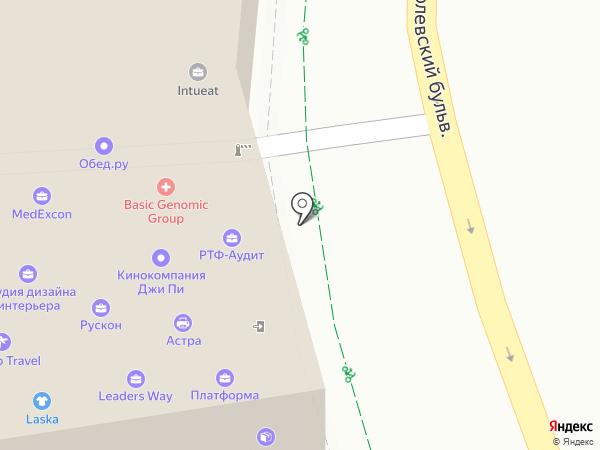 Хепри на карте Москвы