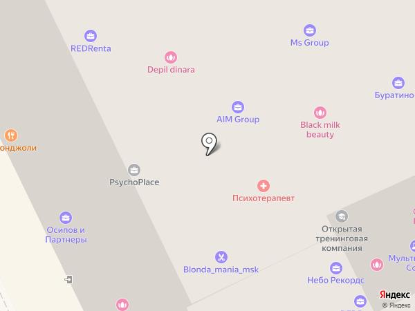 Авангард Бюро на карте Москвы