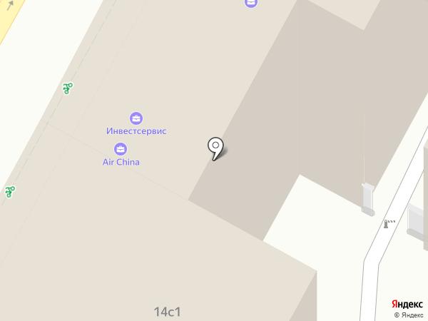 АО Инвестсервис, ЗАО на карте Москвы