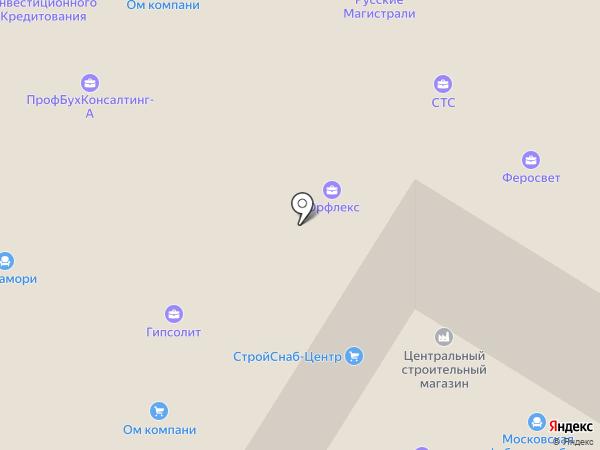 Русский сруб на карте Москвы