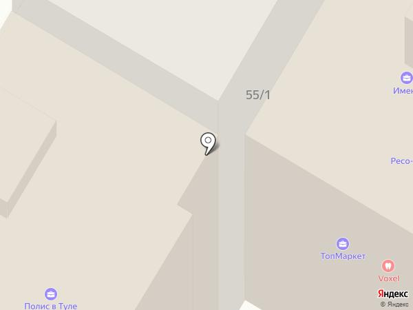 Пинетка на карте Тулы