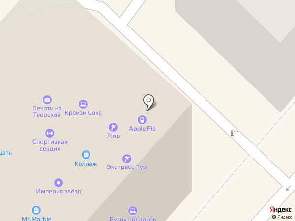 Империя Звезд на карте Москвы