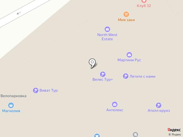 Русский товарный брокер на карте Москвы