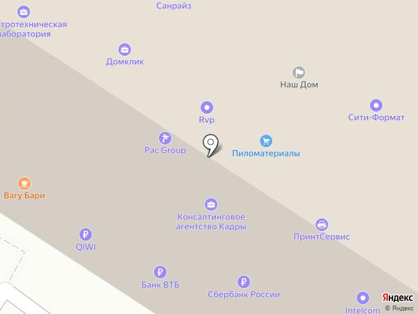 КМ Сеть на карте Тулы