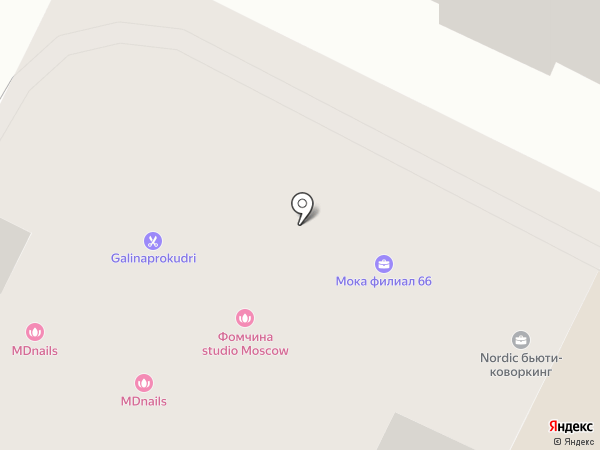 Shkura Lounge на карте Москвы