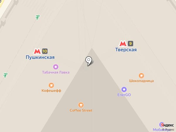 Bonjour на карте Москвы