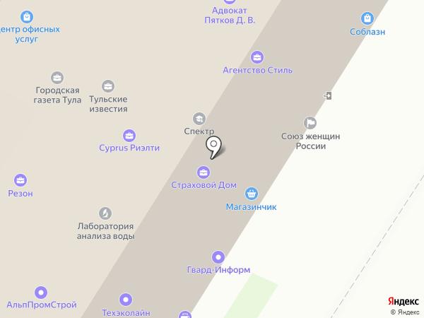 Страховой Дом на карте Тулы