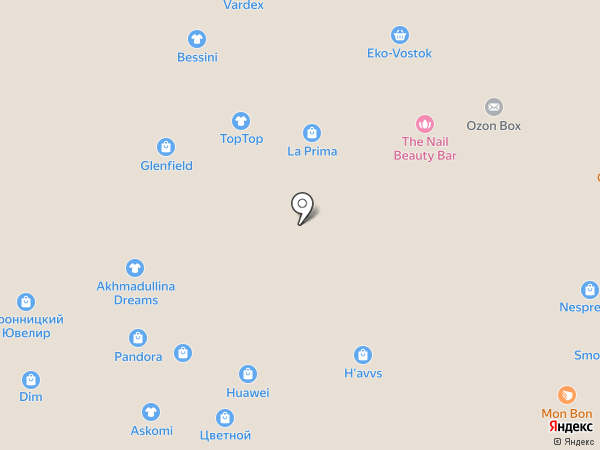 O`stin на карте Москвы