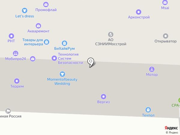 НИИМосстрой на карте Москвы
