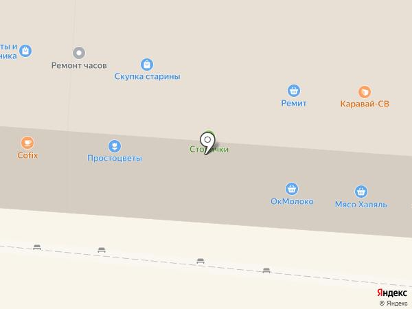 Магазин выпечки на карте Москвы