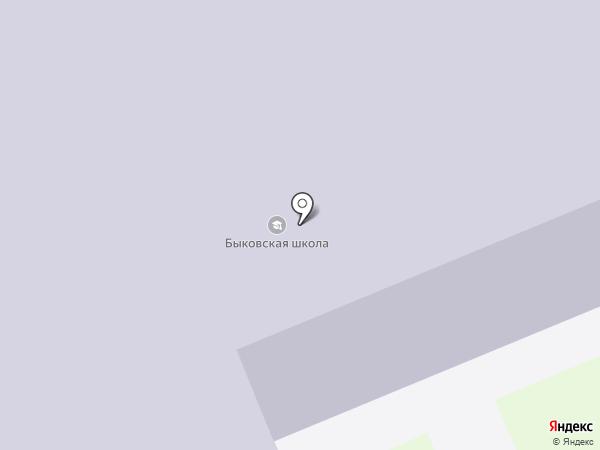 Быковская средняя общеобразовательная школа на карте Быково