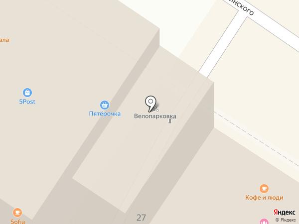 Кофе и люди на карте Тулы