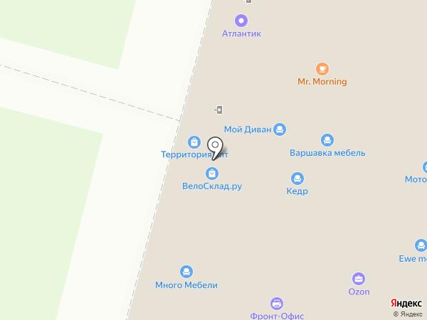 Рельеф-центр на карте Москвы