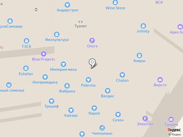 Софи на карте Тулы
