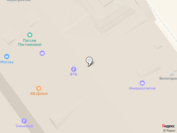 Банкомат, Банк ВТБ 24 на карте Москвы