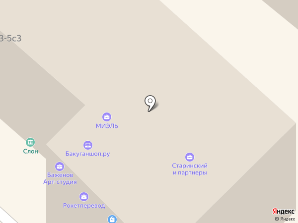 Слон на карте Москвы