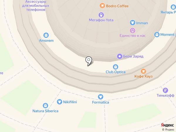 Магазин сумок и головных уборов на карте Москвы