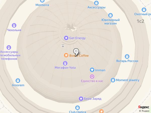 Сбарро на карте Москвы