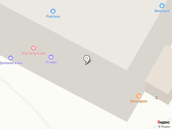 Институтская на карте Москвы