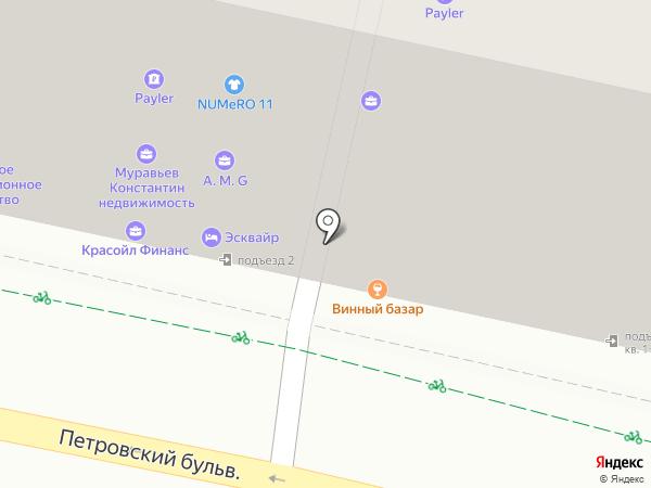 На Трубной на карте Москвы