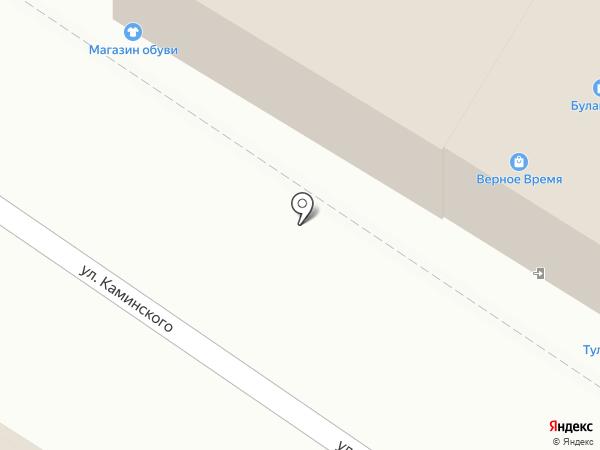 Ножницы на карте Тулы