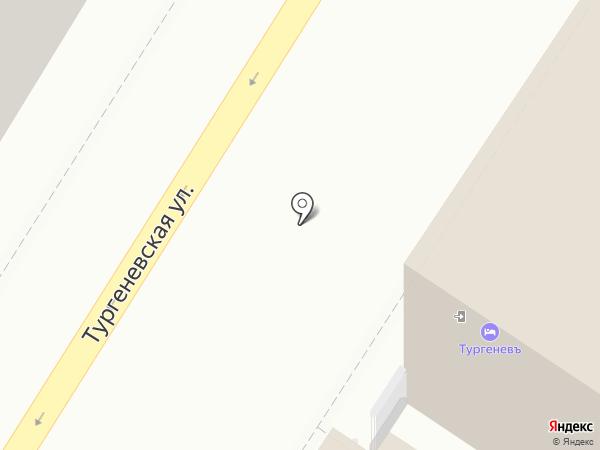 Тургеневъ на карте Тулы
