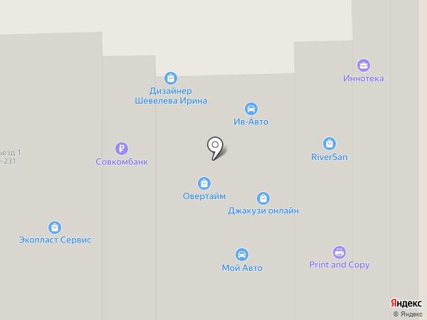 Техносад на карте Москвы