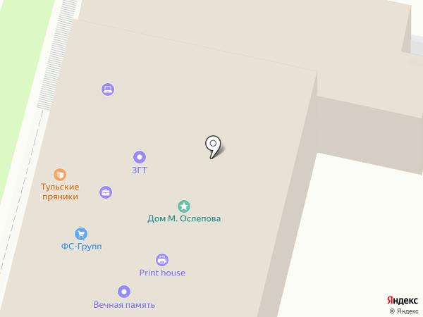 ОЛСЕМ на карте Тулы