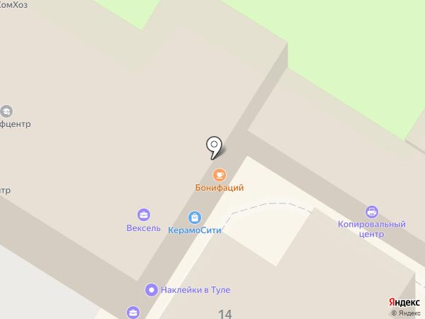 Копировальный центр на карте Тулы