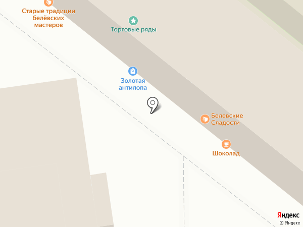 Сувенирная лавка Тульского Кремля на карте Тулы