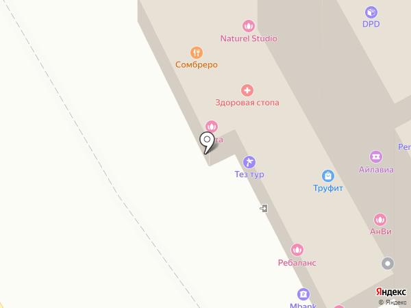 На Полянке на карте Москвы