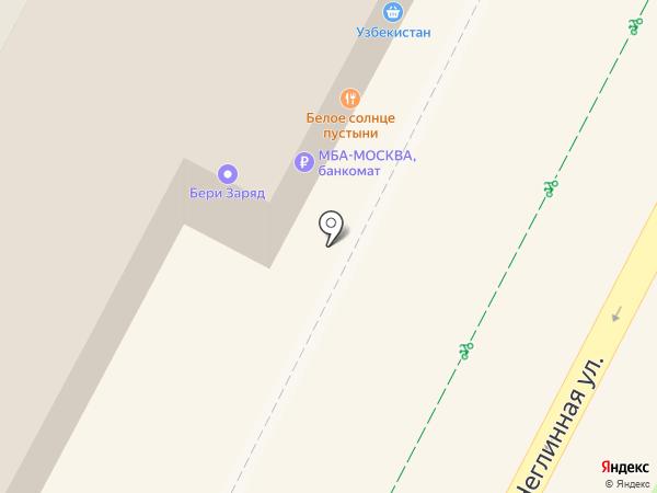 Узбекистан на карте Москвы